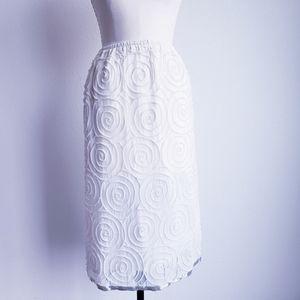Beautiful White Beaded Skirt
